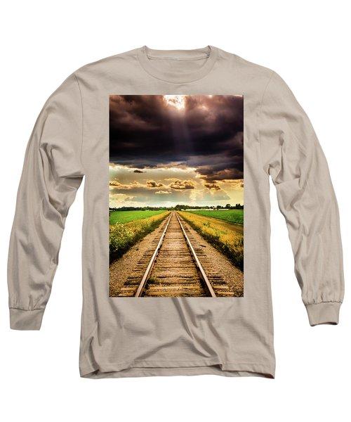 Stormy Tracks Long Sleeve T-Shirt