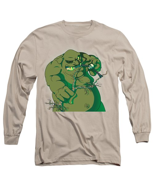 Storybook Ogre Shooting Heads Long Sleeve T-Shirt