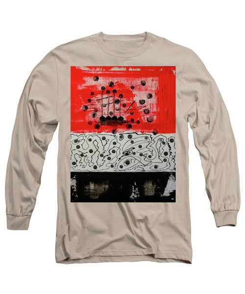 Long Sleeve T-Shirt featuring the painting Stranded In The Wrong Time by Everette McMahan jr