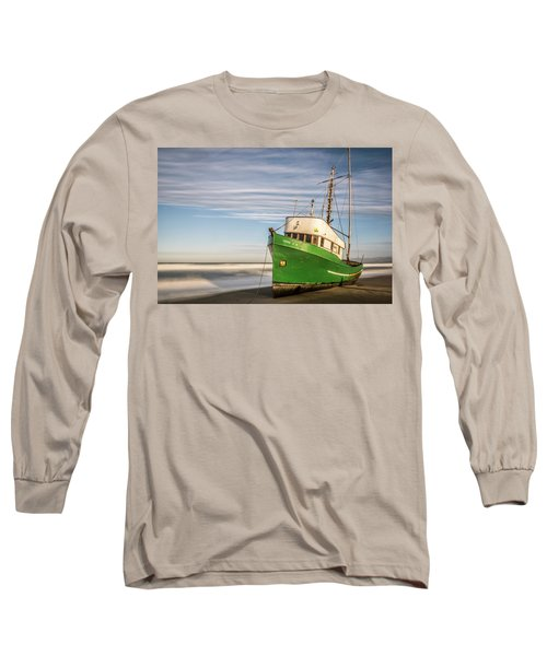 Stranded On The Beach Long Sleeve T-Shirt by Jon Glaser