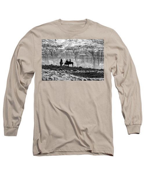Strategy Meeting In Black And White Long Sleeve T-Shirt