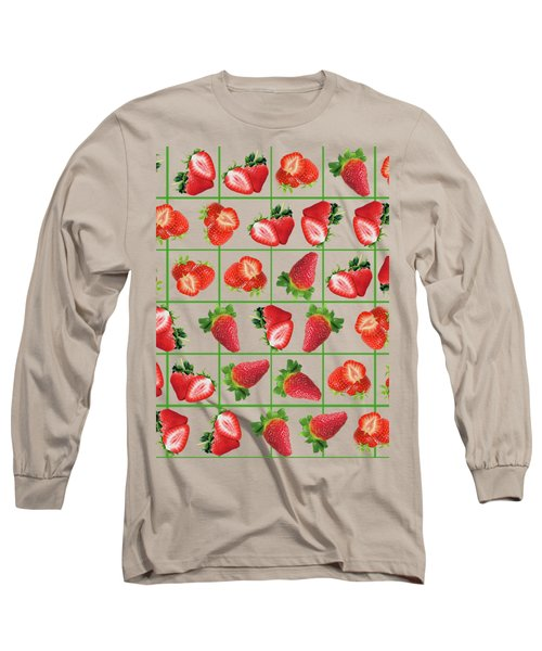 Strawberries Pattern Long Sleeve T-Shirt