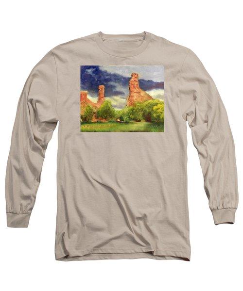 Strawberry Pinnacles Long Sleeve T-Shirt by Sherril Porter