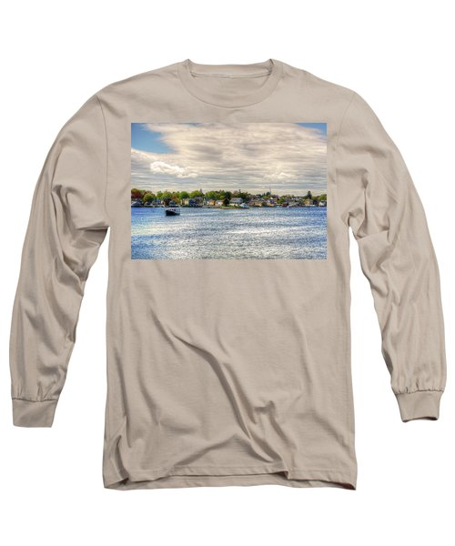 Long Sleeve T-Shirt featuring the photograph Strawbery Banke by Wayne Marshall Chase