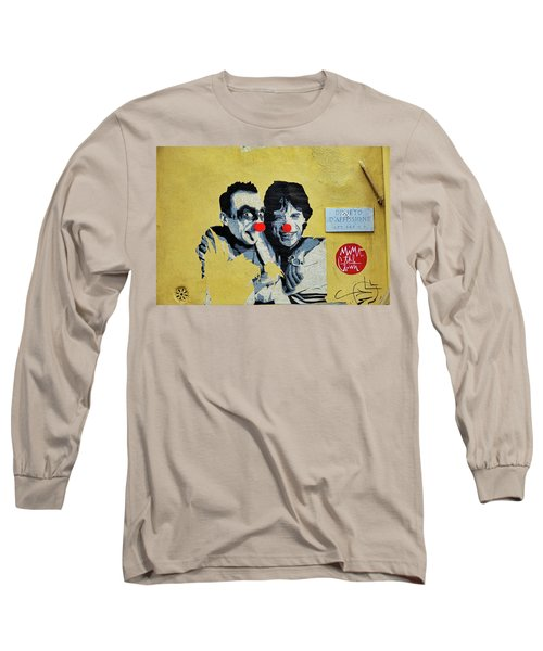 Street Art In The Trastevere Neighborhood In Rome Italy Long Sleeve T-Shirt