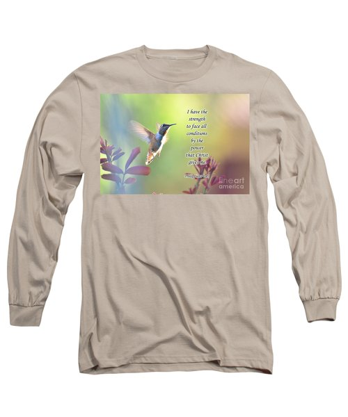 Long Sleeve T-Shirt featuring the photograph Strength Through Christ by Debby Pueschel