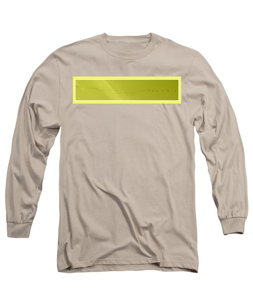 String Of Birds In Yellow Long Sleeve T-Shirt