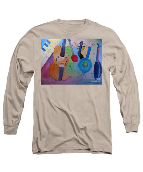 Long Sleeve T-Shirt featuring the painting Strings by Sandy McIntire
