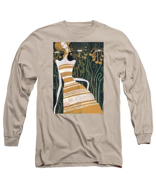 Stripe Dress Long Sleeve T-Shirt by Maya Manolova