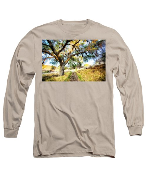 Strolling Down The Path Long Sleeve T-Shirt by Carol Crisafi