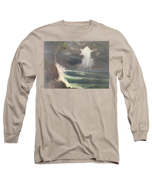 Strong Against The Storm Long Sleeve T-Shirt by Thomas Janos