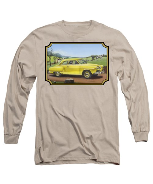 Studebaker Champion Antique Americana Nostagic Rustic Rural Farm Country Auto Car Painting Long Sleeve T-Shirt