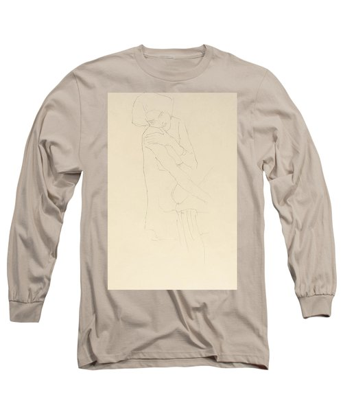 Study For Adele Bloch Bauer II Long Sleeve T-Shirt by Gustav Klimt
