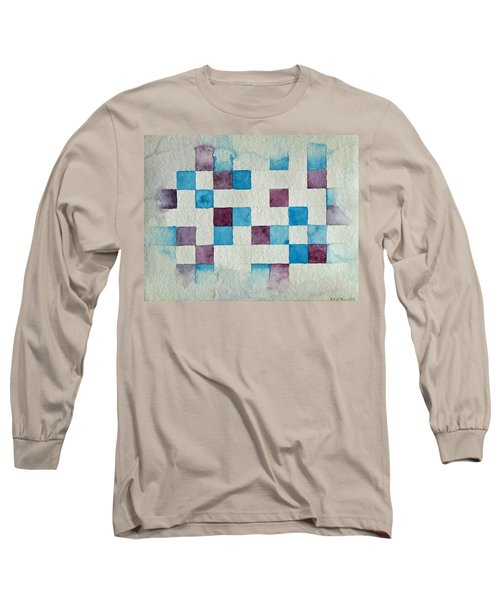 Study In Blue And Violet Long Sleeve T-Shirt