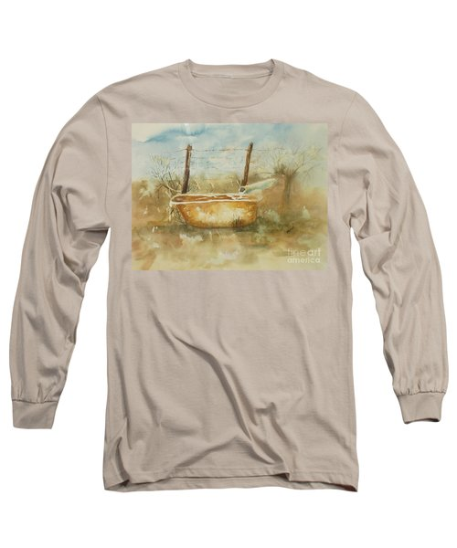Study Of A Watering Tub Long Sleeve T-Shirt by Vicki  Housel