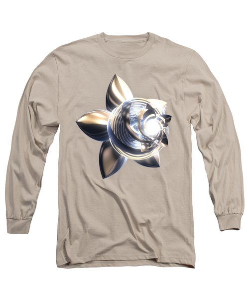 Long Sleeve T-Shirt featuring the digital art Stylized Abstract Light by Linda Phelps