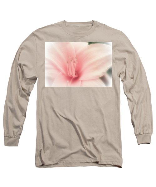 Subtle And Pink Long Sleeve T-Shirt by Jason Moynihan