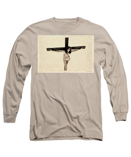 Suffering Of A Woman On Cross Long Sleeve T-Shirt