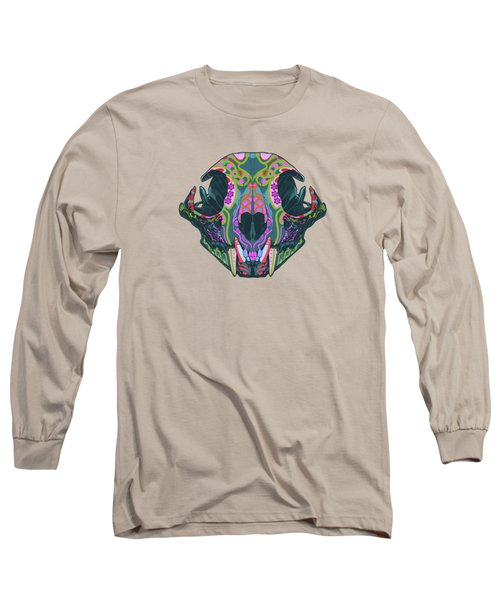 Sugar Lynx  Long Sleeve T-Shirt by Nelson dedos Garcia