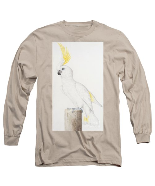 Sulphur Crested Cockatoo Long Sleeve T-Shirt by Nicolas Robert