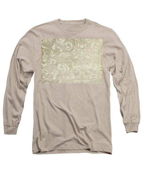 Summer At The Cottage - Vintage Style Wooden Scroll Flourishes Long Sleeve T-Shirt