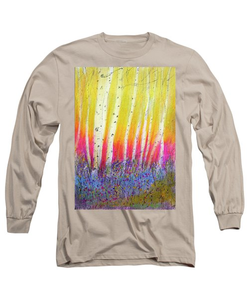 Summer Birch  Long Sleeve T-Shirt by Linde Townsend