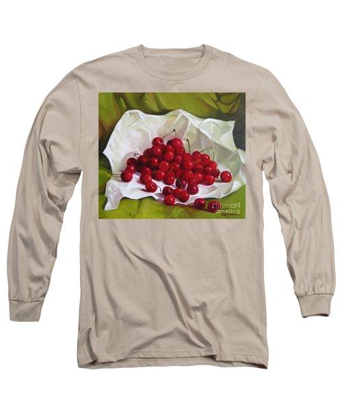 Summer Cherries Long Sleeve T-Shirt