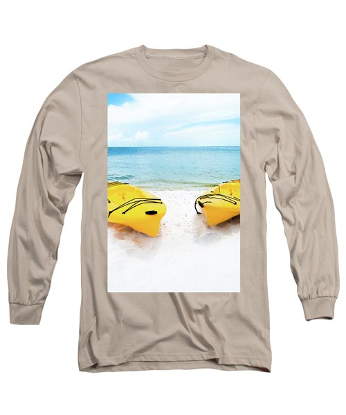 Long Sleeve T-Shirt featuring the photograph Summer Colors On The Beach by Shelby Young