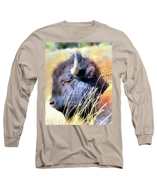 Summer Dozing - Buffalo Long Sleeve T-Shirt