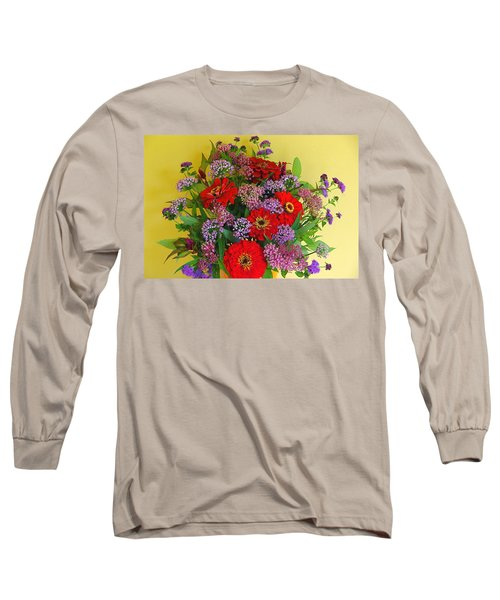 Long Sleeve T-Shirt featuring the photograph Summer Flower Bouquet by Byron Varvarigos