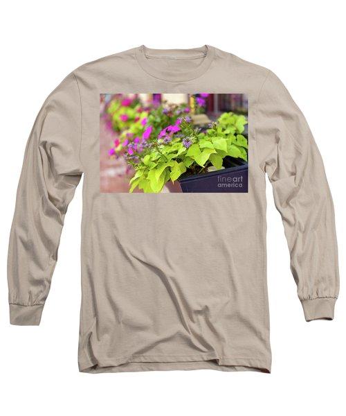 Summer Flowers In Window Box Long Sleeve T-Shirt