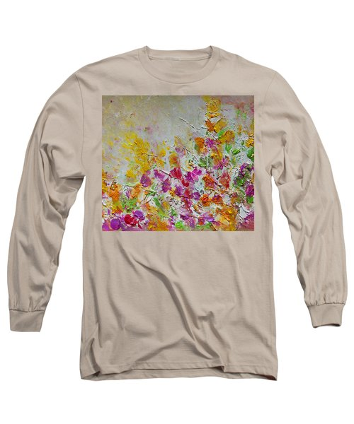 Summer Fragrance Abstract Painting Long Sleeve T-Shirt