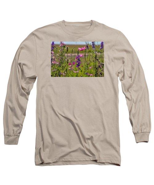Summer Garden Long Sleeve T-Shirt by Alana Thrower