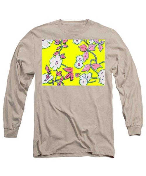 Summer Garden Climbing Plants Yellow Purple Long Sleeve T-Shirt