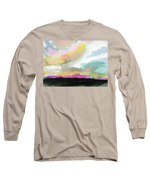Long Sleeve T-Shirt featuring the painting Summer Monsoon by Ed Heaton
