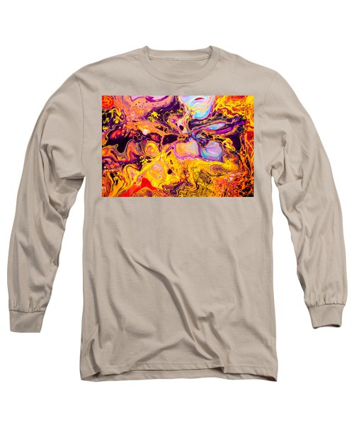 Summer Play  - Abstract Colorful Mixed Media Painting Long Sleeve T-Shirt by Modern Art Prints
