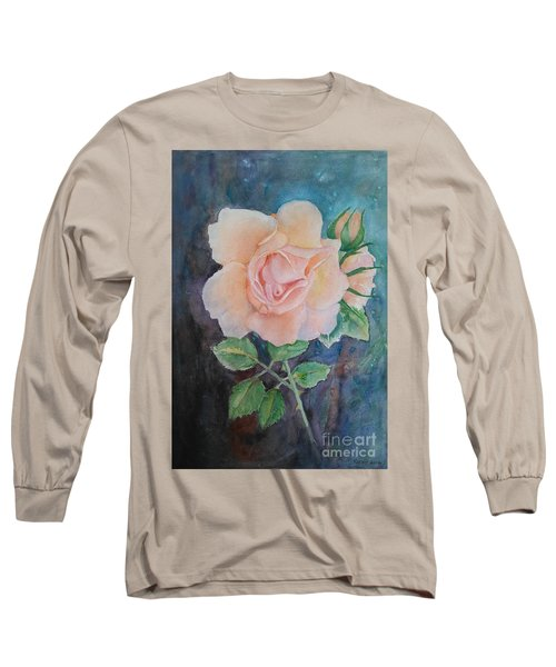 Summer Rose - Painting Long Sleeve T-Shirt by Veronica Rickard