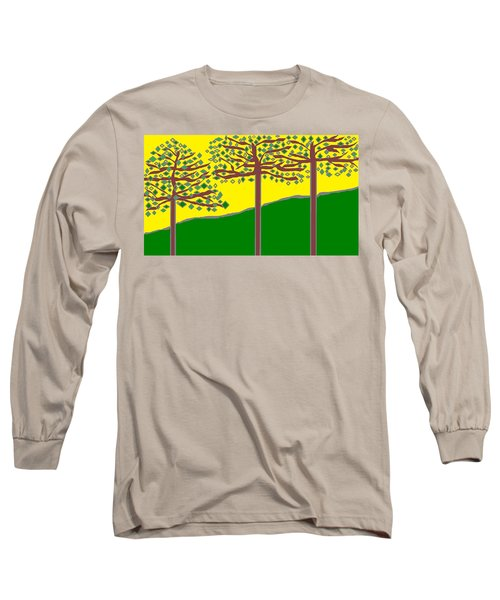 Summer Stained Glass 2 Long Sleeve T-Shirt by Linda Velasquez
