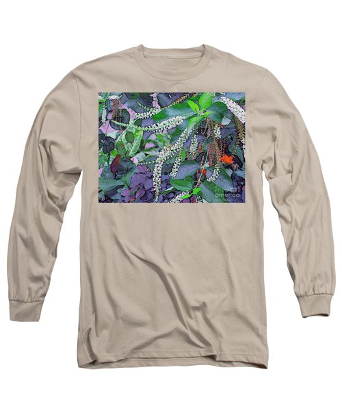 Summer White Long Sleeve T-Shirt by Kathie Chicoine