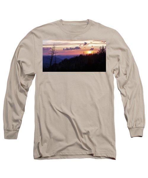 Sun Over Cedar Long Sleeve T-Shirt