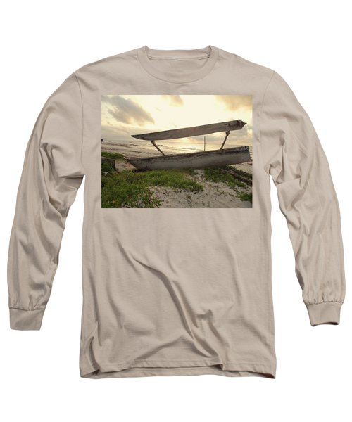 Sun Rays And Wooden Dhows Long Sleeve T-Shirt