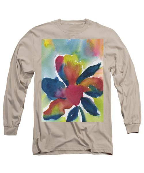 Long Sleeve T-Shirt featuring the painting Sunburst by Frank Bright