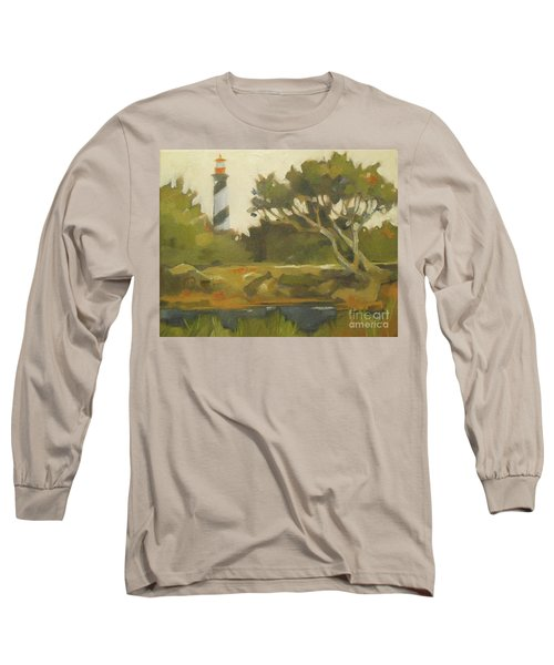 Sunday Lighthouse Long Sleeve T-Shirt by Mary Hubley