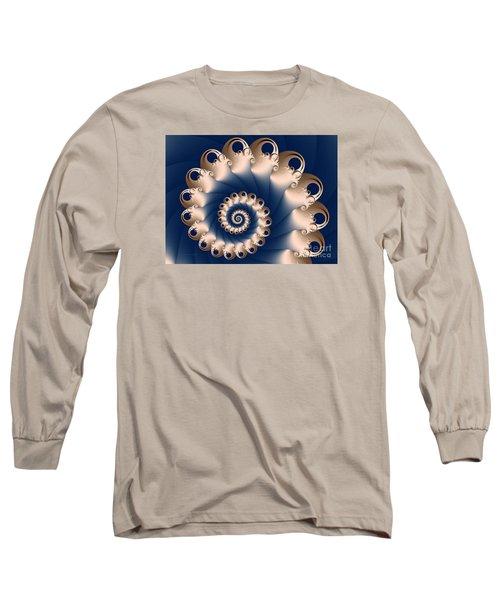 Long Sleeve T-Shirt featuring the digital art Sunday Spiral by Karin Kuhlmann