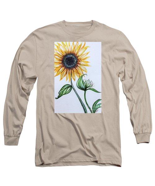 Sunflower Botanical Long Sleeve T-Shirt by Elizabeth Robinette Tyndall