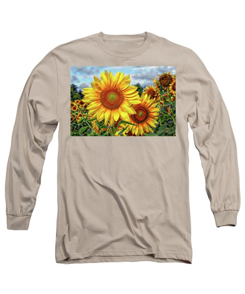 Sunflower Field Long Sleeve T-Shirt