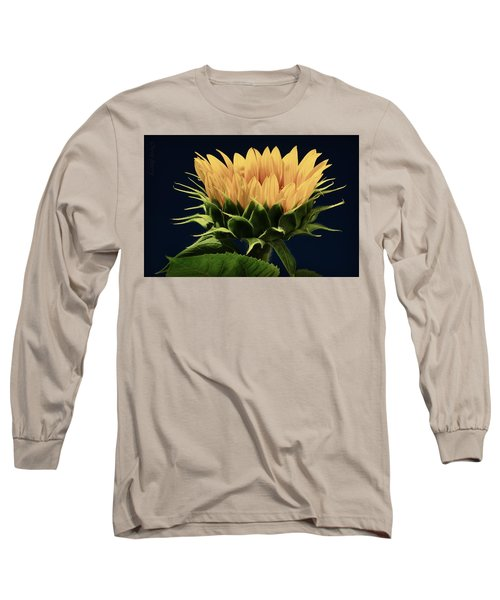 Long Sleeve T-Shirt featuring the photograph Sunflower Foliage And Petals by Chris Berry