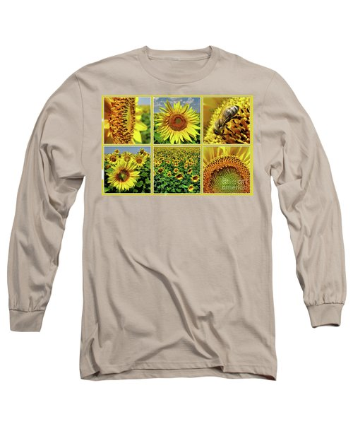 Sunflower Story - Collage Long Sleeve T-Shirt