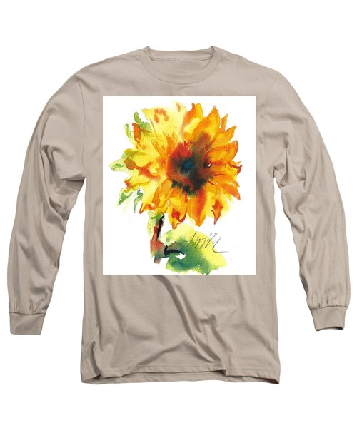 Sunflower With Blues Long Sleeve T-Shirt