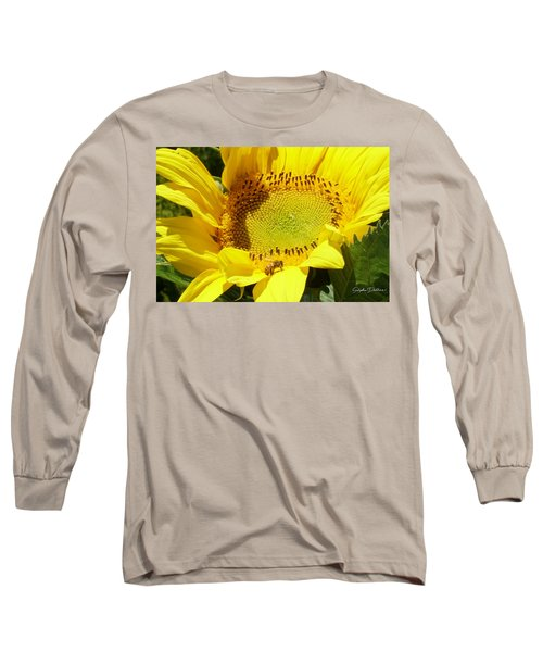 Sunflower With Honeybee Long Sleeve T-Shirt